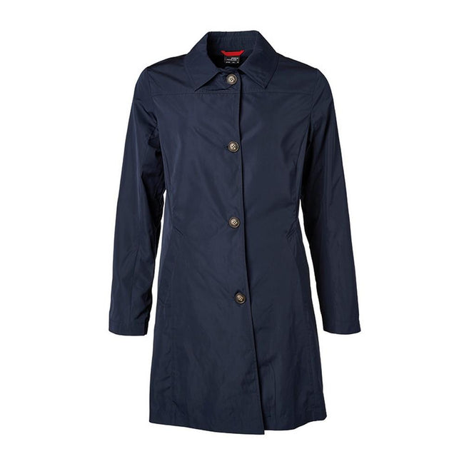 Navy - Front - James and Nicholson Womens-Ladies Travel Coat