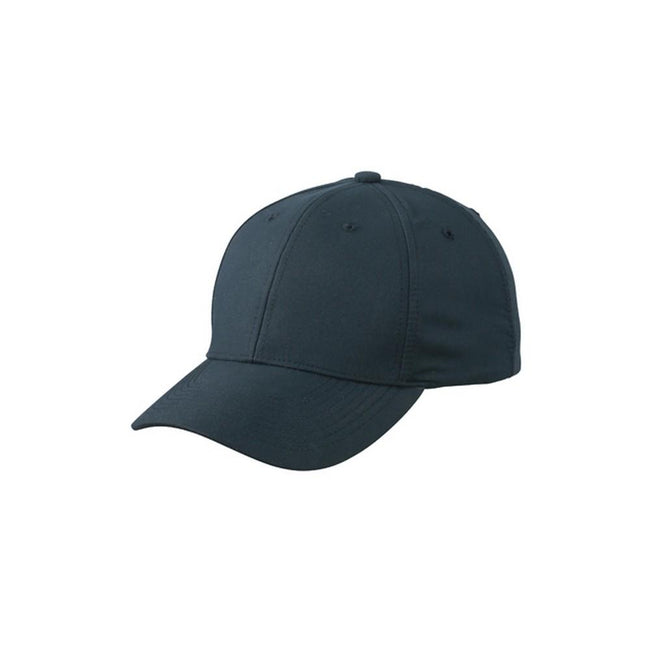 Iron Grey - Front - Myrtle Beach Adults Unisex 6 Panel Polyester Peach Cap