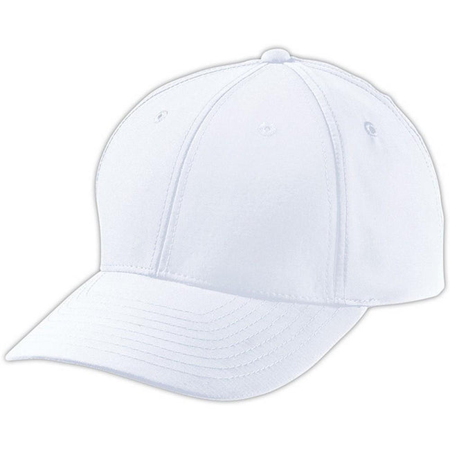 White - Front - Myrtle Beach Adults Unisex 6 Panel Polyester Peach Cap