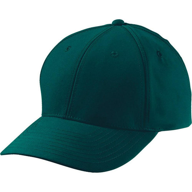 Dark Green - Front - Myrtle Beach Adults Unisex 6 Panel Polyester Peach Cap