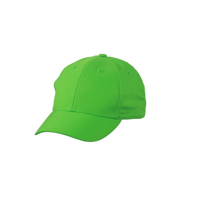 Green - Front - Myrtle Beach Adults Unisex 6 Panel Polyester Peach Cap