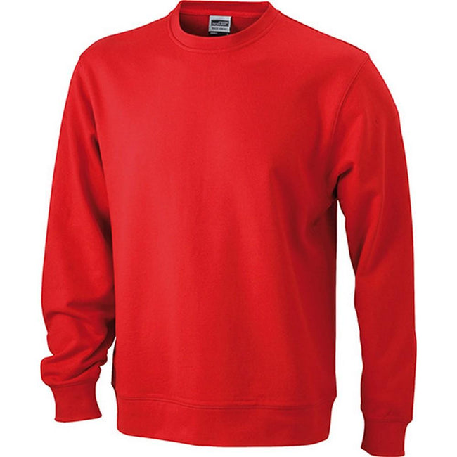 Red - Front - James and Nicholson Unisex Basic Sweatshirt