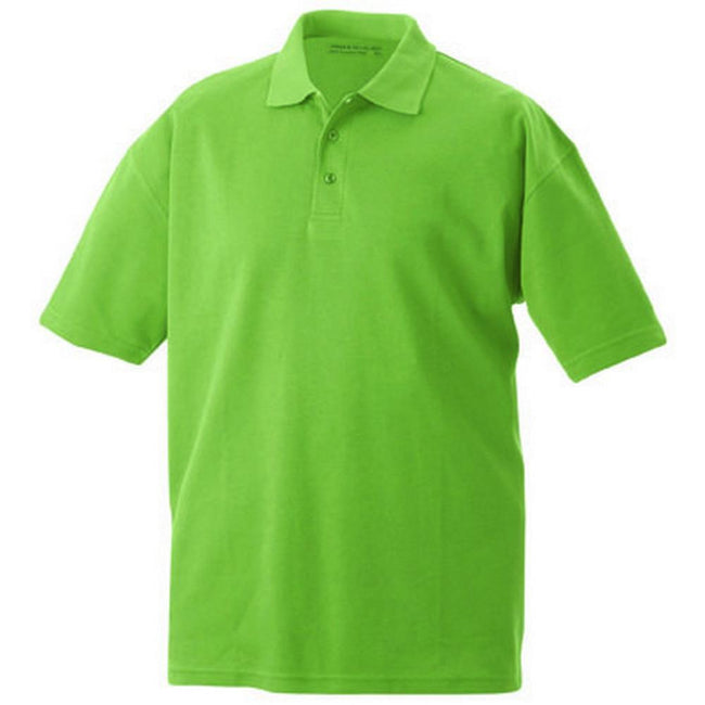 Grass Green - Front - James and Nicholson Unisex Function Polo