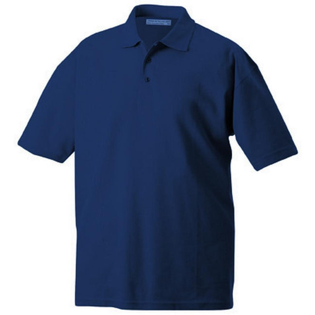 Navy - Front - James and Nicholson Unisex Function Polo
