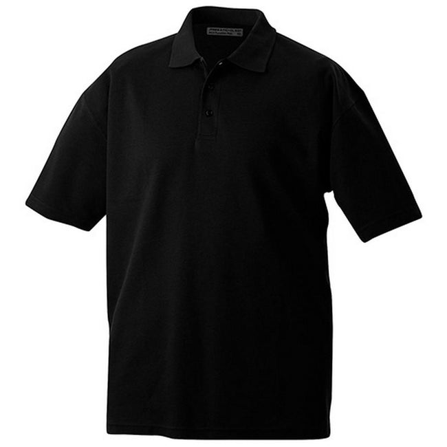 Black - Front - James and Nicholson Unisex Function Polo