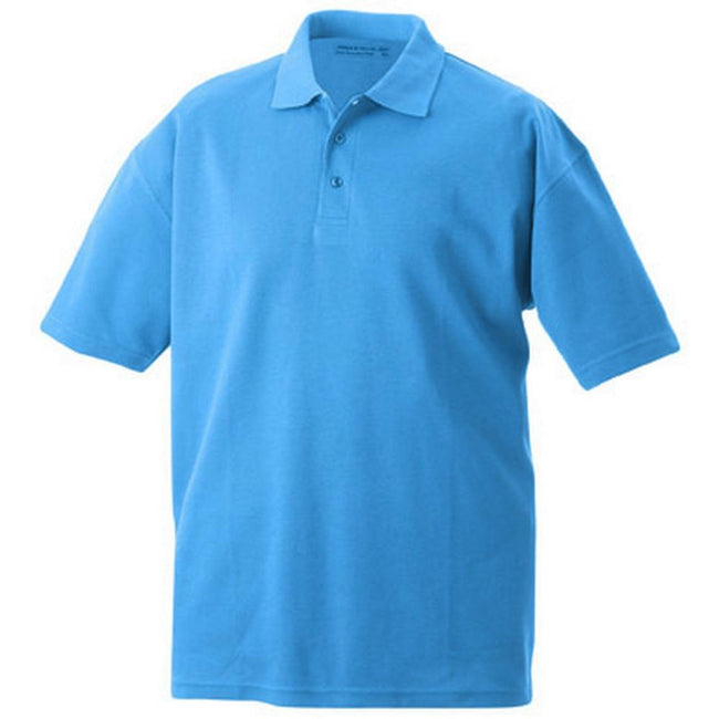 Blue - Front - James and Nicholson Unisex Function Polo
