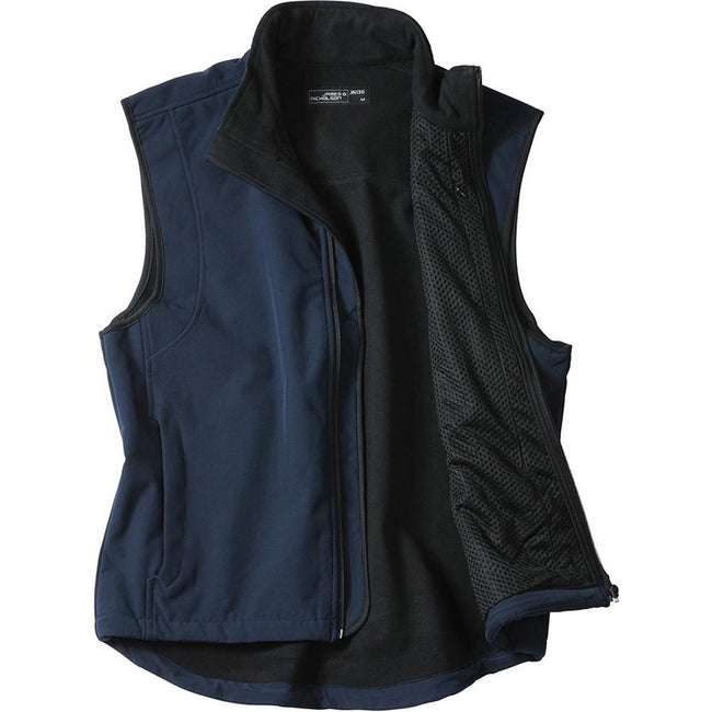 Navy - Front - James and Nicholson Mens Waterproof Softshell Vest