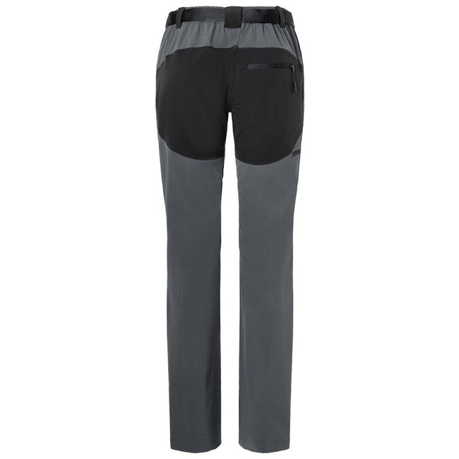Carbon Grey-Black - Back - James and Nicholson Mens Trekking Pants