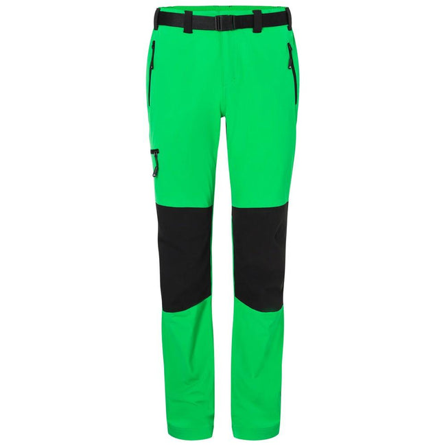 Fern Green-Black - Front - James and Nicholson Mens Trekking Pants