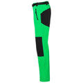 Fern Green-Black - Side - James and Nicholson Mens Trekking Pants
