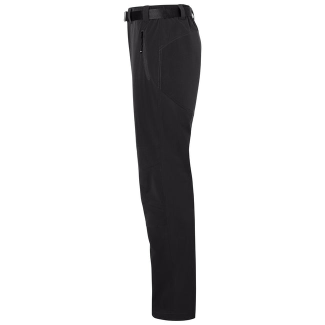 Black-Black - Side - James and Nicholson Mens Trekking Pants