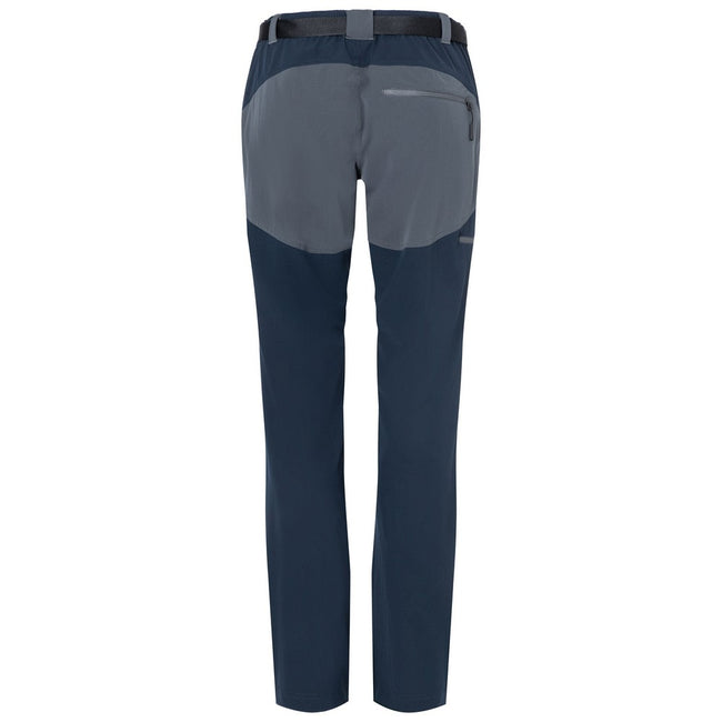 Navy-Carbon Grey - Back - James and Nicholson Mens Trekking Pants