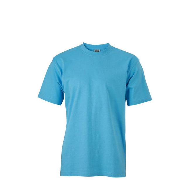 Sky Blue - Front - James and Nicholson Unisex Heavy Round Tee