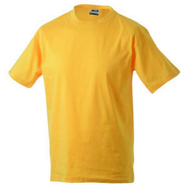 Gold Yellow - Front - James and Nicholson Unisex Heavy Round Tee