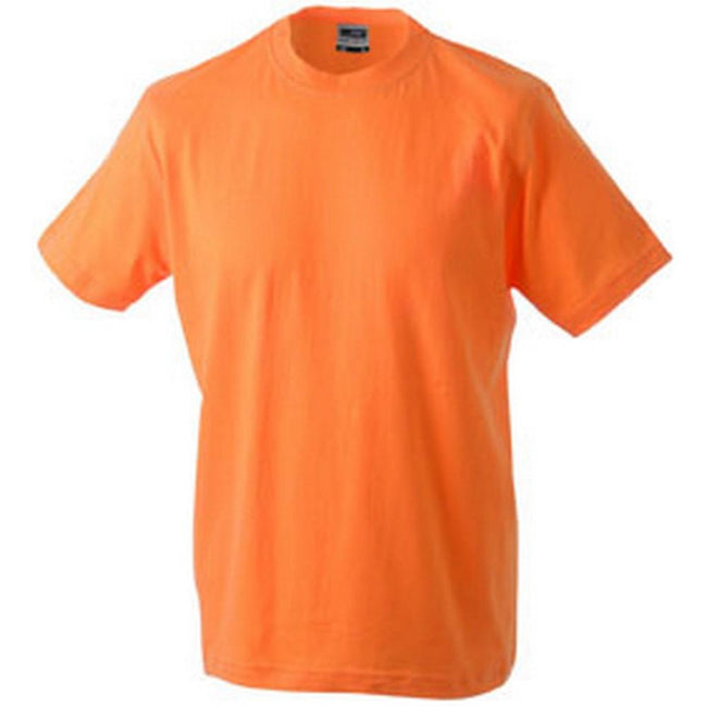 Orange - Front - James and Nicholson Unisex Heavy Round Tee