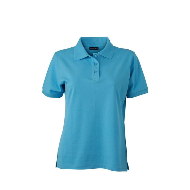 Sky Blue - Front - James and Nicholson Womens-Ladies Classic Polo