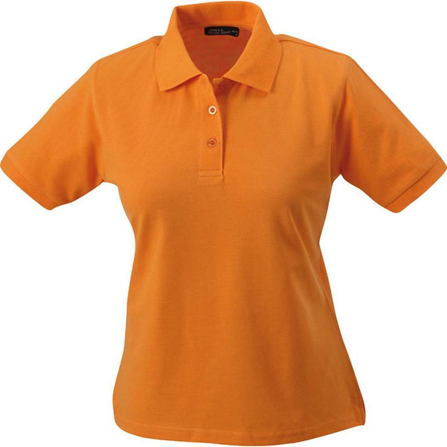 Orange - Front - James and Nicholson Womens-Ladies Classic Polo