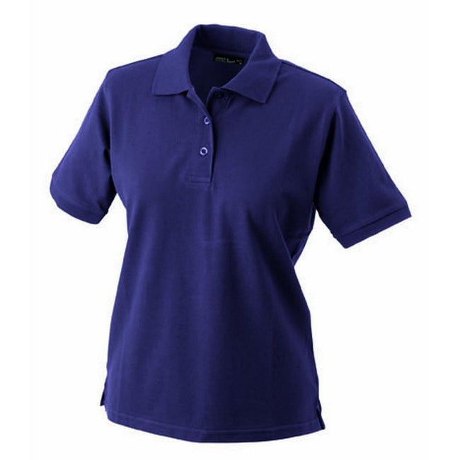 Aubergine - Front - James and Nicholson Womens-Ladies Classic Polo