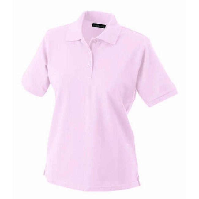 Rose - Front - James and Nicholson Womens-Ladies Classic Polo
