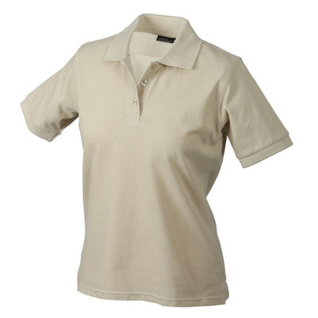 Stone - Front - James and Nicholson Womens-Ladies Classic Polo