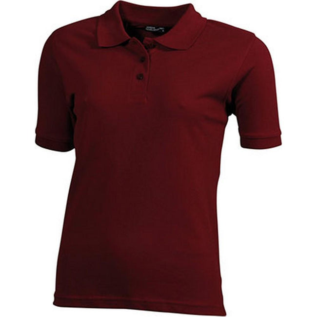 Wine - Front - James and Nicholson Womens-Ladies Classic Polo