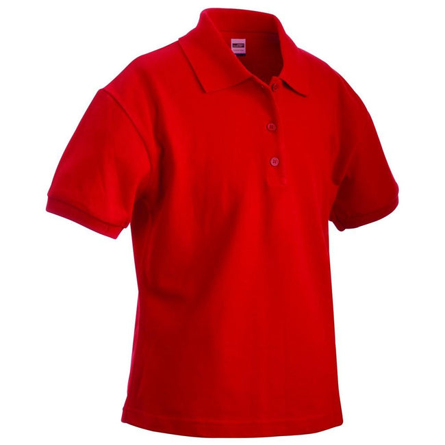 Signal Red - Front - James and Nicholson Womens-Ladies Classic Polo