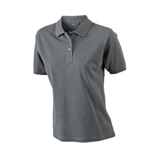 Graphite - Front - James and Nicholson Womens-Ladies Classic Polo