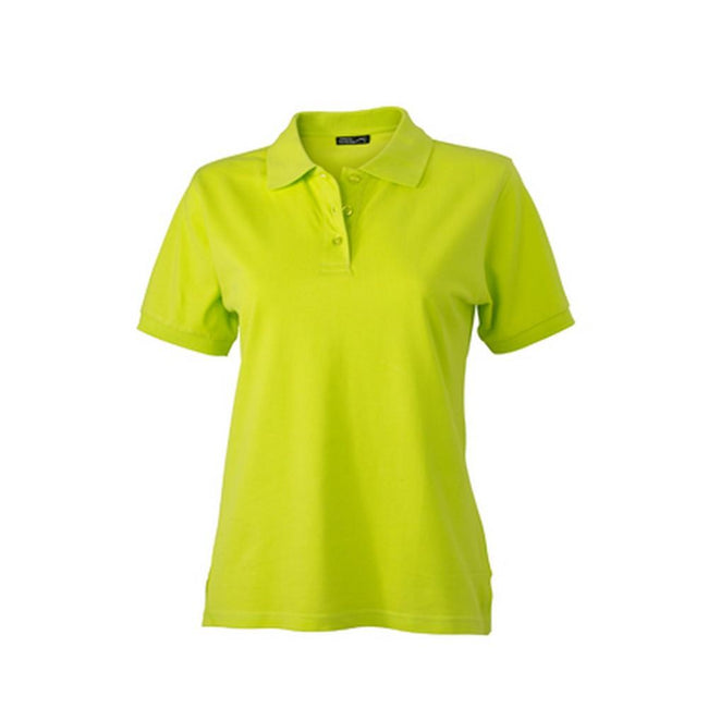 Acid Yellow - Front - James and Nicholson Womens-Ladies Classic Polo