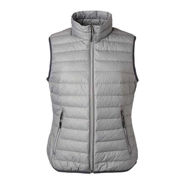 Silver Melange-Graphite - Front - James and Nicholson Womens-Ladies Light Down Vest