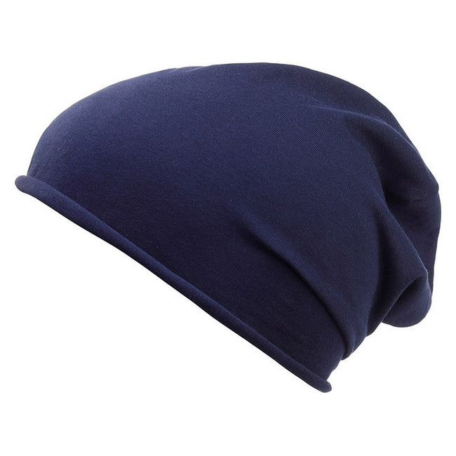 Navy - Front - Myrtle Beach Adults Unisex Bio Cotton Beanie
