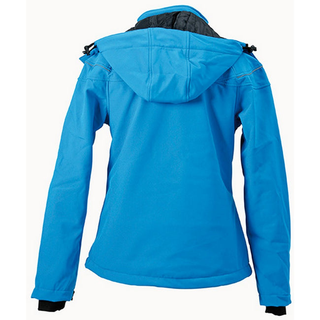Aqua Blue - Back - James and Nicholson Womens-Ladies Winter Softshell Jacket