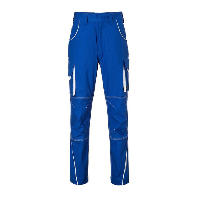 Royal Blue-White - Front - James and Nicholson Mens Level 2 Workwear Pants
