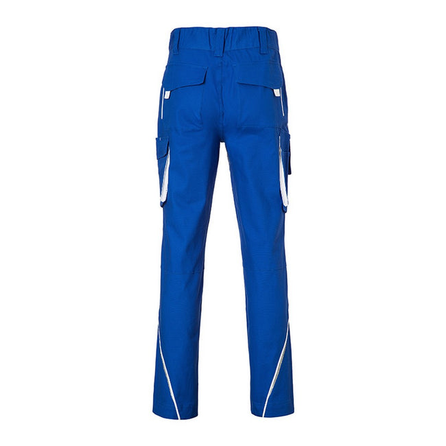 Royal Blue-White - Back - James and Nicholson Mens Level 2 Workwear Pants
