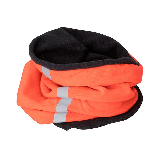 Bright Orange-Carbon Grey - Front - Myrtle Beach Adults Unisex Winter X-Tube Snood