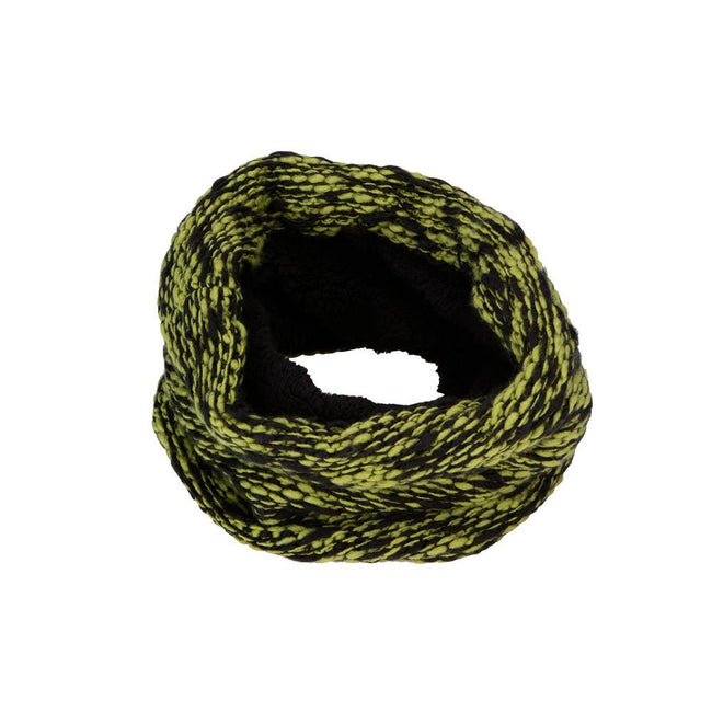 Kiwi Green-Black - Front - Myrtle Beach Adults Unisex Highloft Fleece Loop Snood
