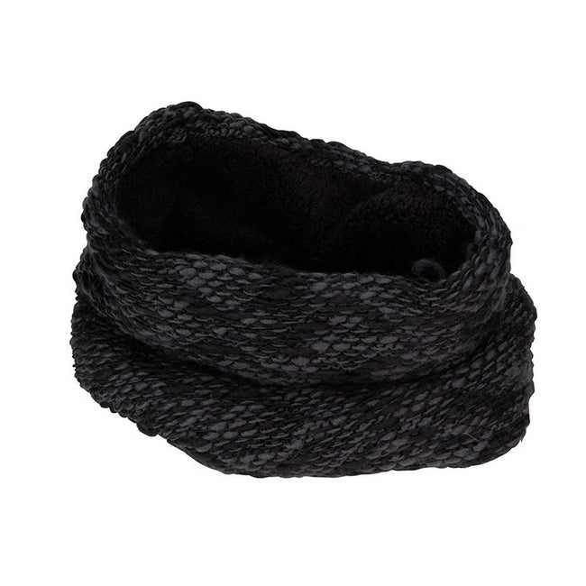 Dark Grey-Black - Front - Myrtle Beach Adults Unisex Highloft Fleece Loop Snood
