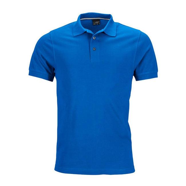 Royal Blue - Front - James and Nicholson Mens Pima Polo