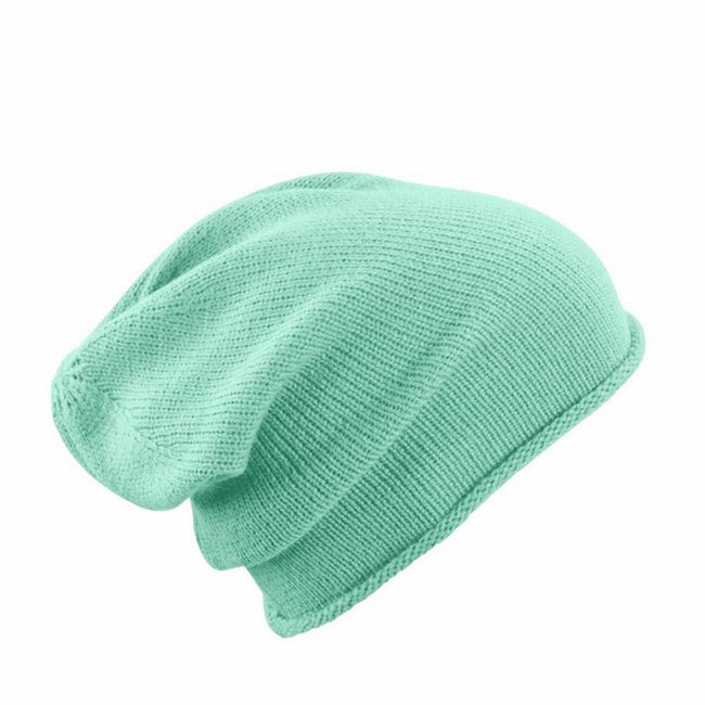 Light Green - Front - Myrtle Beach Adults Unisex Roll-Up Beanie