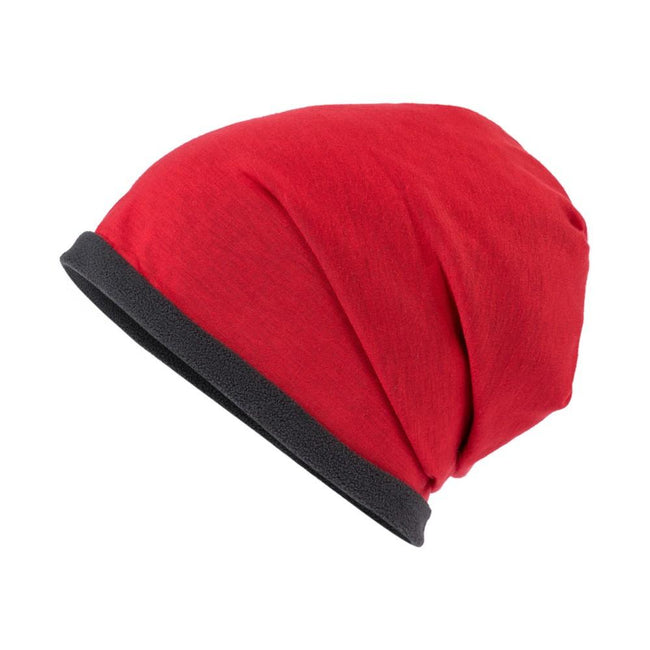 Red-Carbon Grey - Front - Myrtle Beach Adults Unisex Single Beanie