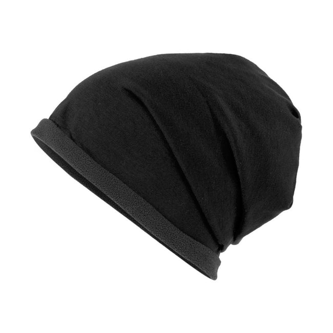 Black-Carbon Grey - Front - Myrtle Beach Adults Unisex Single Beanie