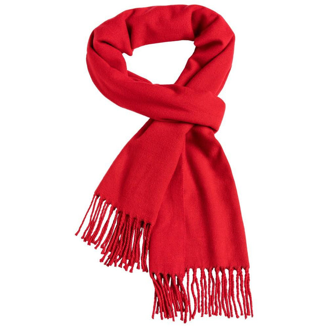 Red - Front - Myrtle Beach Adults Unisex Elegant Scarf