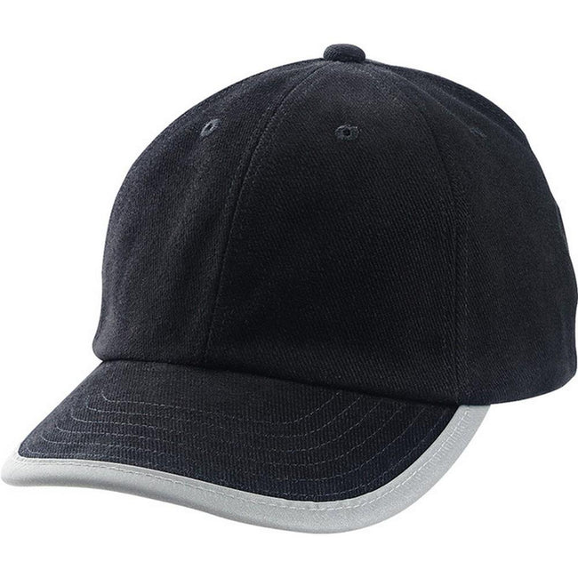 Black - Front - Myrtle Beach Childrens-Kids Security Cap