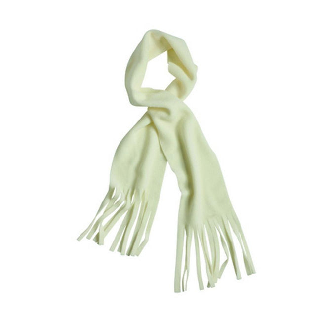 Off White - Front - Myrtle Beach Adults Unisex Fringe Fleece Scarf