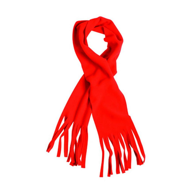 Red - Front - Myrtle Beach Adults Unisex Fringe Fleece Scarf