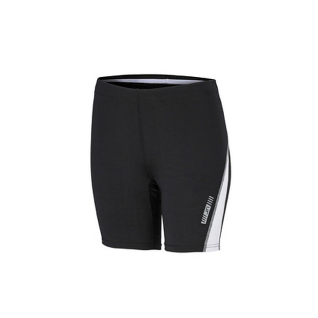 Black-White - Front - James and Nicholson Womens-Ladies Running Short Tights