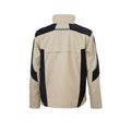 Stone-Black - Back - James and Nicholson Unisex Workwear Jacket