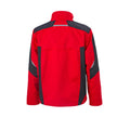 Red-Black - Back - James and Nicholson Unisex Workwear Jacket