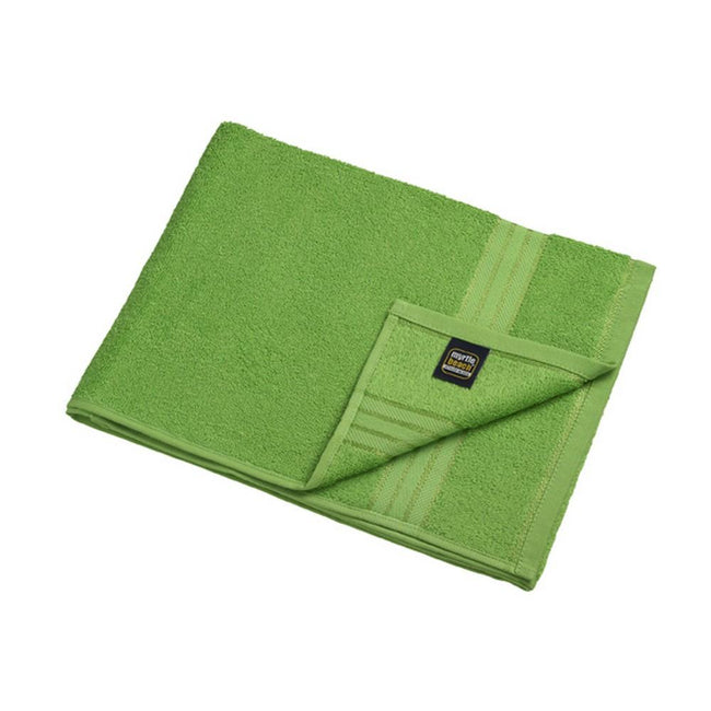 Lime Green - Front - Myrtle Beach Basic Hand Towel (Pack of 2)