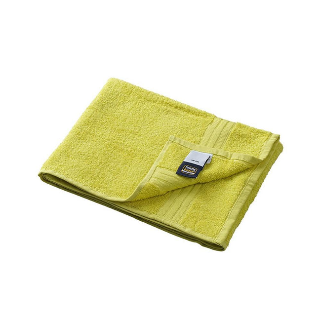 Sunny Lime Green - Front - Myrtle Beach Basic Hand Towel (Pack of 2)