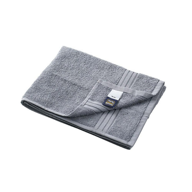Mid Grey - Front - Myrtle Beach Basic Hand Towel (Pack of 2)